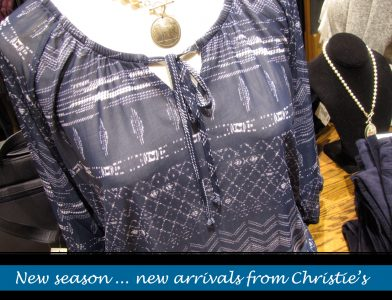 New ladies casual Winter 2019 fashion is now here at Christie's Clothing in downtown Collingwood
