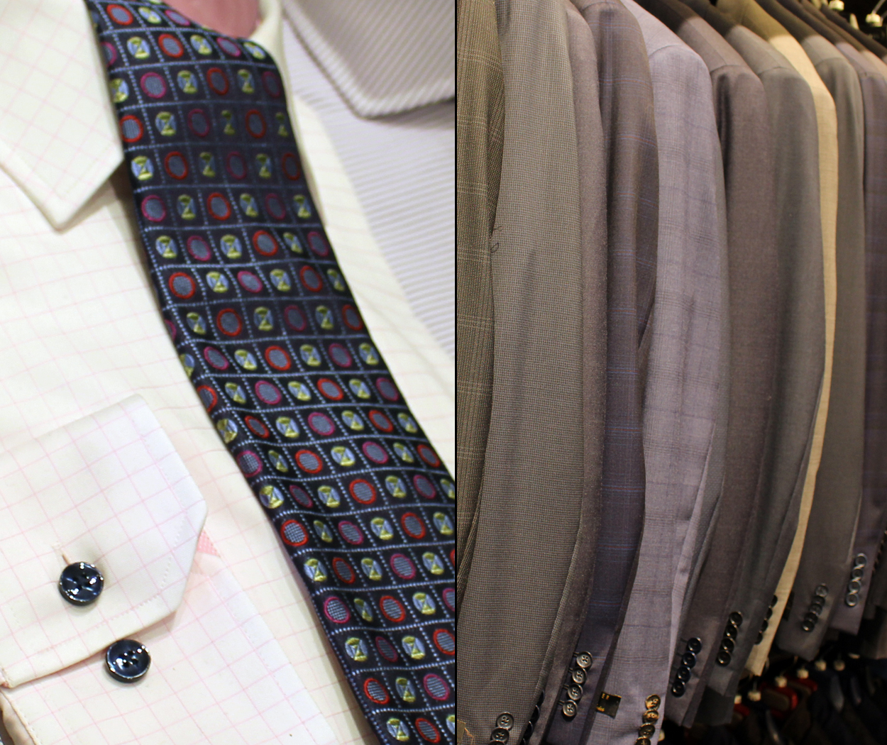 Look good at your next business meeting with shirts, ties, jackets, slacks and suits from Christie's Clothing in Collingwood